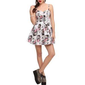 NWOT Hell Bunny Eden Dress Skull Flamingo Floral
